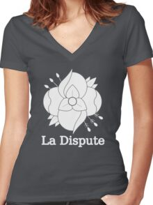 La Dispute - White Women's Fitted V-Neck T-Shirt