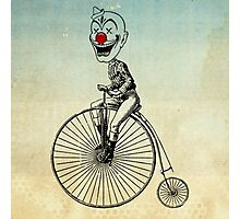clown on a bike 02 Photographic Print