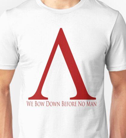Spartan Symbol - Red Unisex T-Shirt