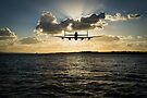 Low-flying Lancaster sunset by Gary Eason