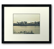 On the Verge of Framed Print