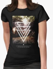 Mystic Forrest  Womens Fitted T-Shirt