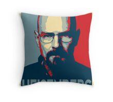 Obamized Mr Heisenberg (Light Blue) Throw Pillow