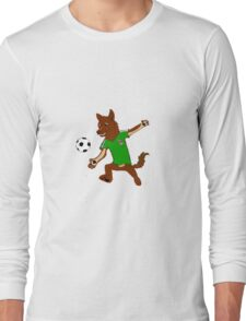 mexico soccer furry Long Sleeve T-Shirt