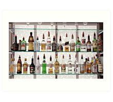 Alcohol Bar Art Print