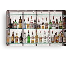 Alcohol Bar Canvas Print