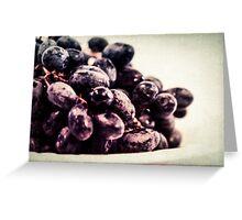 Food Still Life - Fresh Grapes Greeting Card