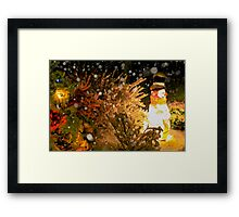 Frosty in a Snowstorm Framed Print