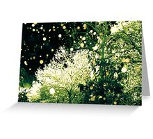 Night Snow Storm Greeting Card
