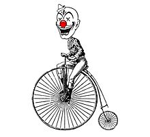 clown on a bike Photographic Print