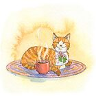 Cozy Cocoa Cat by Laurel Varian