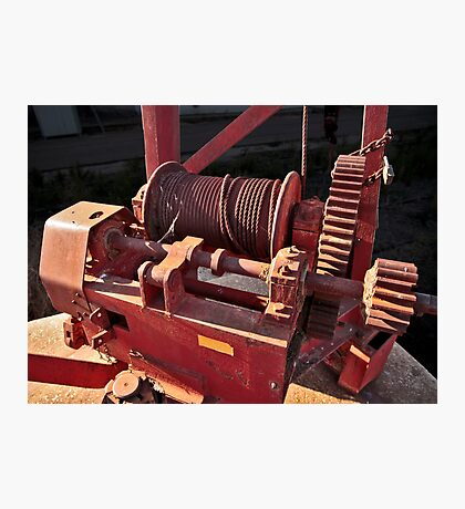 Big Red Winch Photographic Print