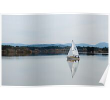 Sail Boat on Lake Burley Griffin II Poster