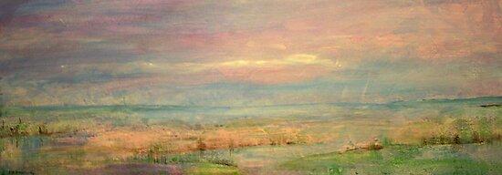 Pink Blakeney Norfolk,UK by Linda Ridpath