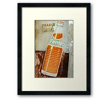 Vintage Retro Fanta Ad Framed Print