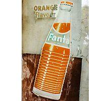 Vintage Retro Fanta Ad Photographic Print