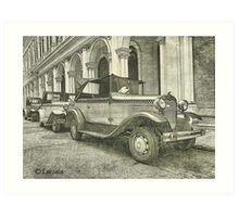 Classic old cars  Art Print