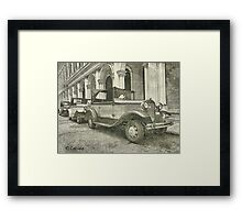 Classic old cars  Framed Print