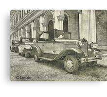 Classic old cars  Canvas Print