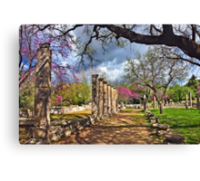 Springtime in Ancient Olympia Canvas Print