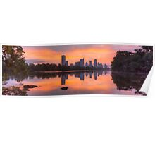 Austin Skyline Images - An Austin Panorama from Lou Neff Point Poster