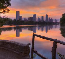 Texas Images - Lou Neff Point and the Austin Skyline by RobGreebonPhoto