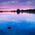 Dawn at Duston Mills Reservoir by Ralph Goldsmith