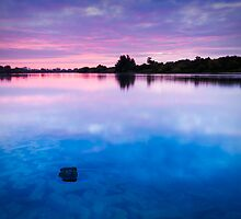 Dawn at Duston Mills Reservoir by Ralph Goldsmith