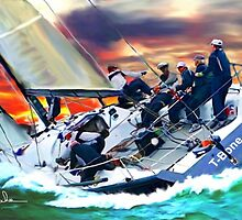 Bay Sail by Tom Sachse by Tom  Sachse
