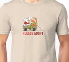 Patch & Rusty™ Christmas Wagon Please Adopt Unisex T-Shirt