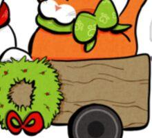 Patch & Rusty™ Christmas Wagon Please Adopt Sticker