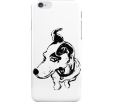 Jumpin' Jack Russell Graphic ~black and white iPhone Case/Skin