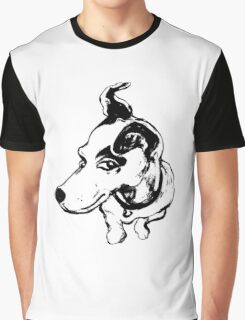 Jumpin' Jack Russell Graphic ~black and white Graphic T-Shirt