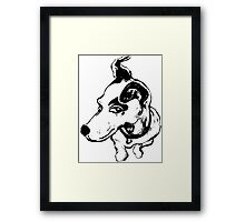 Jumpin' Jack Russell Graphic ~black and white Framed Print
