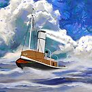 A Sea Going Steam Tug  iPad/iPhone/iPod cases by Dennis Melling