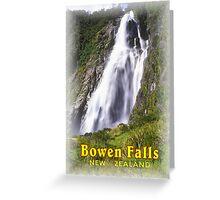 Bowen Falls New Zealand Greeting Card