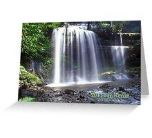 Russell Falls Tasmania Australia Greeting Card