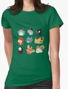 all character studio ghibli Womens Fitted T-Shirt