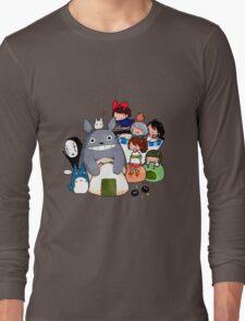 funny ghibli full colour Long Sleeve T-Shirt