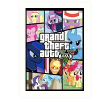 GTA V: Pony edition Art Print