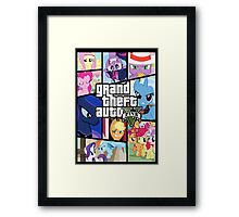 GTA V: Pony edition Framed Print