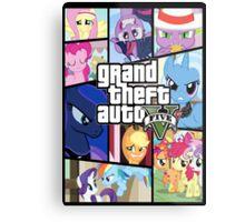 GTA V: Pony edition Metal Print