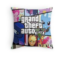 GTA V: Pony edition Throw Pillow