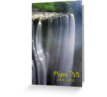 Magwa Falls South Africa Greeting Card