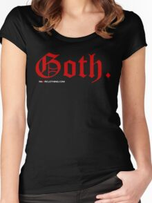 Goth. Women's Fitted Scoop T-Shirt