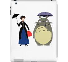 Mary Poppin and totoro umbrela iPad Case/Skin