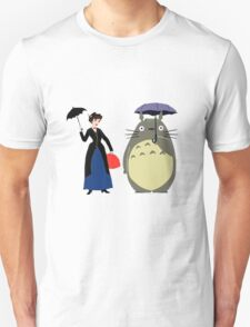 Mary Poppin and totoro umbrela T-Shirt