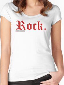 Rock. Women's Fitted Scoop T-Shirt