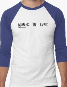 Music Is My Life Skull Men's Baseball ¾ T-Shirt