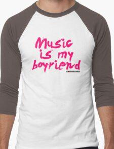 Music Is My Boyfriend Men's Baseball ¾ T-Shirt